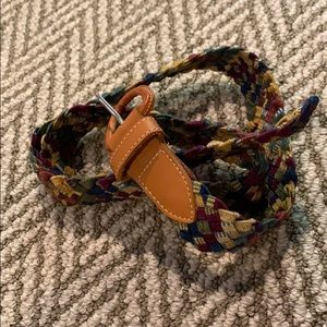 Multicolored woven belt
